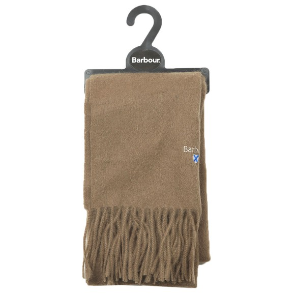 Barbour Lifestyle Mens Brown Plain Lambswool Scarf