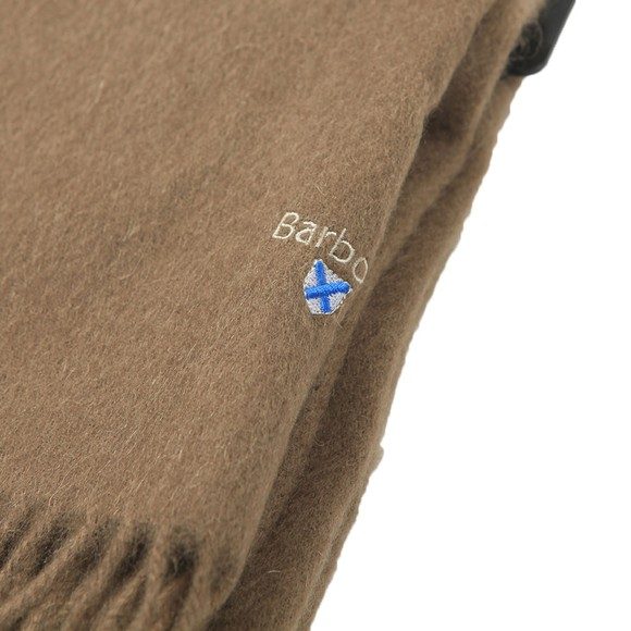 Barbour Lifestyle Mens Brown Plain Lambswool Scarf main image