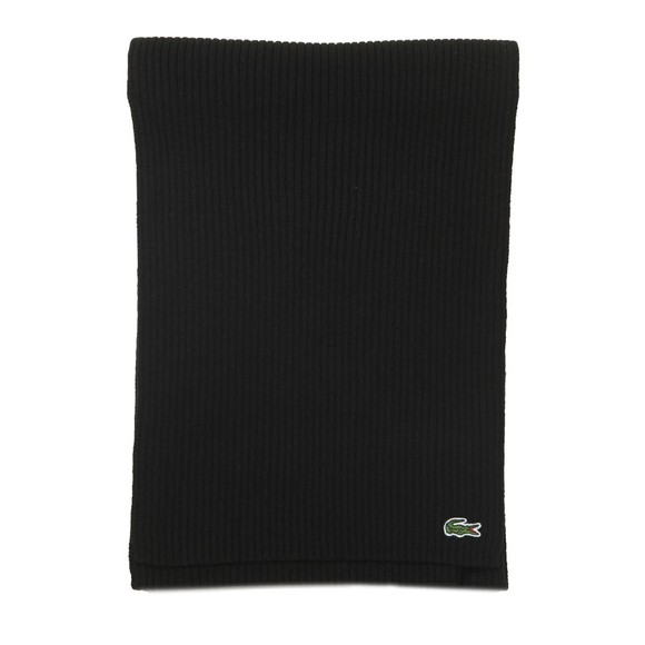 Lacoste Mens Black Ribbed Scarf main image
