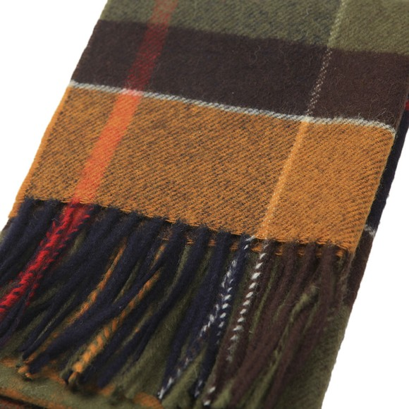 Barbour Lifestyle Mens Green Inverness Tartan Scarf