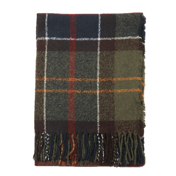 Barbour Lifestyle Womens Green Tartan Boucle Scarf