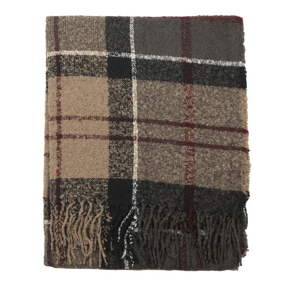 Barbour Lifestyle Womens Multicoloured Tartan Boucle Scarf