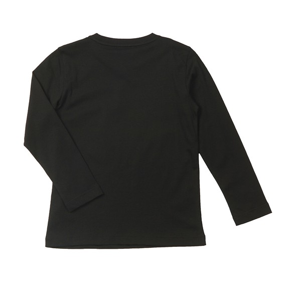 EA7 Emporio Armani Boys Black Long Sleeve Small Logo T Shirt