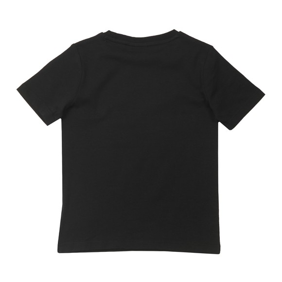 BOSS Boys Black Small Curved Logo T-Shirt
