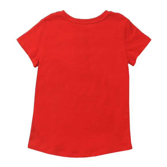 Tommy Hilfiger Kids Girls Red Essential Logo T-Shirt