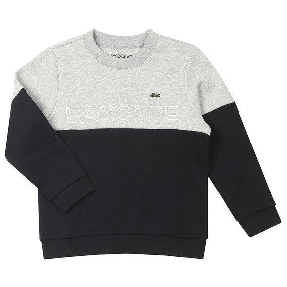 Lacoste Boys Grey Logo Panel Sweatshirt