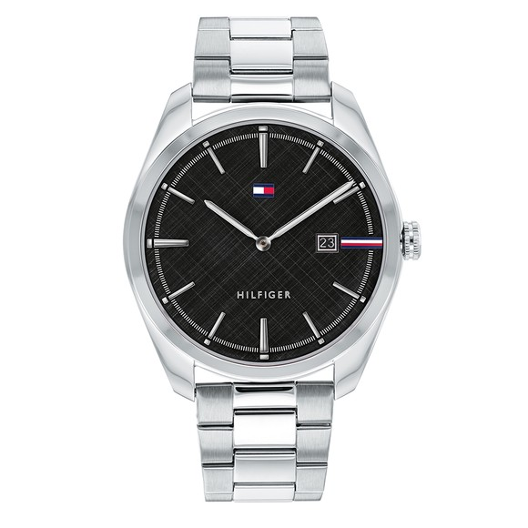 Tommy Hilfiger Mens Silver Theo Watch main image
