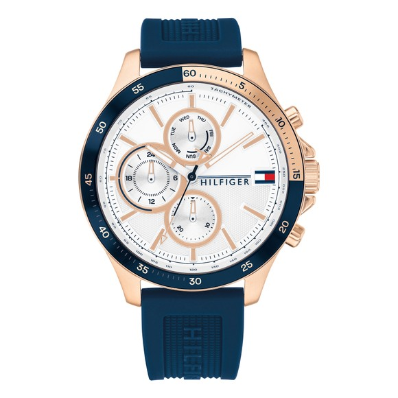 Tommy Hilfiger Mens Blue Bank Watch