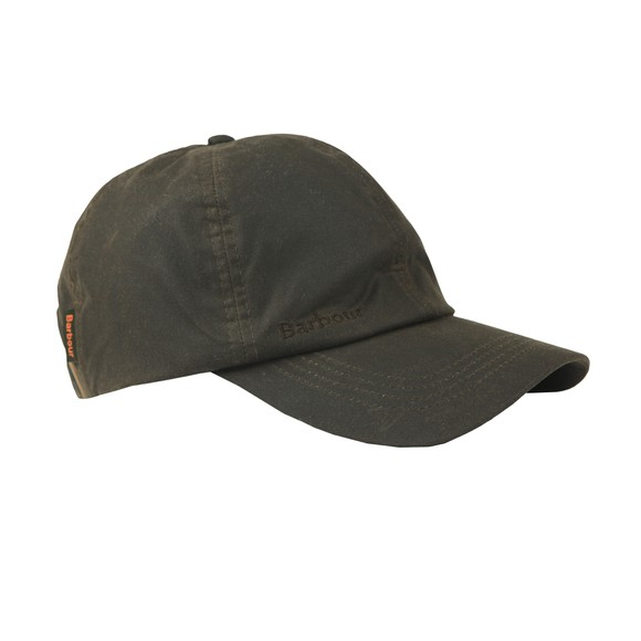 Barbour Lifestyle Mens Green Wax Sports Cap