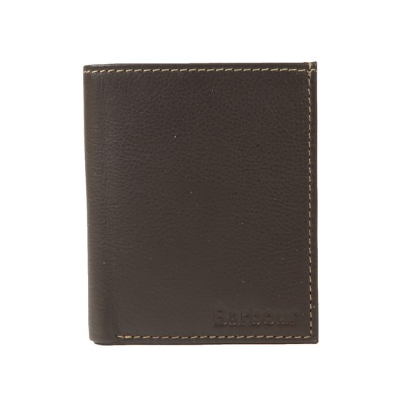 Barbour Lifestyle Mens Brown Elvington Small Leather Billfold Wallet