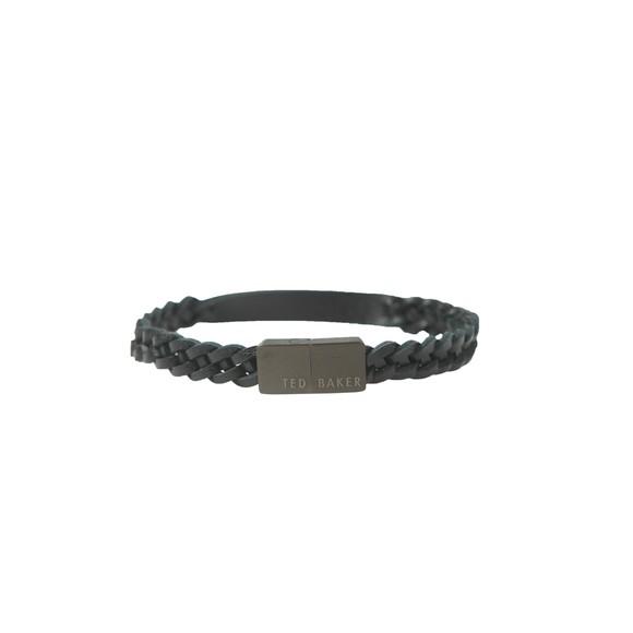 Ted Baker Mens Black Woven Leather Bracelet