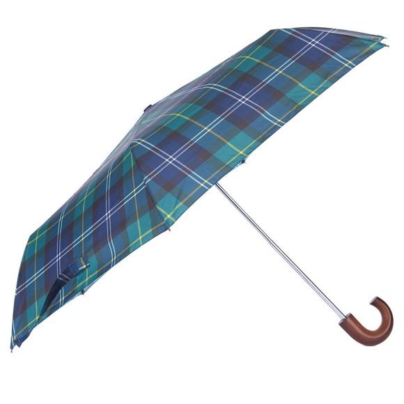 Barbour Lifestyle Mens Green Tartan Mini Umbrella  main image