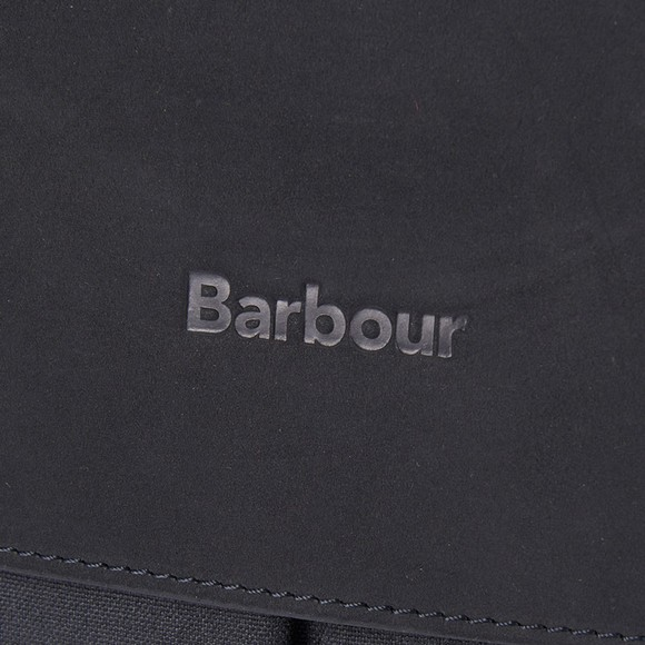Barbour Lifestyle Mens Black Wax Leather Briefcase main image