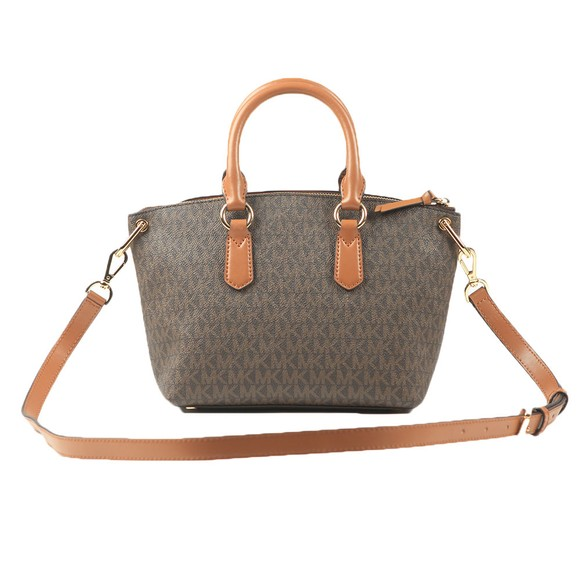 Michael Kors Womens Brown Elson Small Satchel