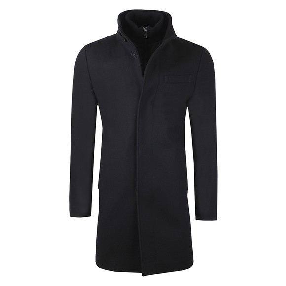 Ted Baker Mens Blue Rockies Wool Coat