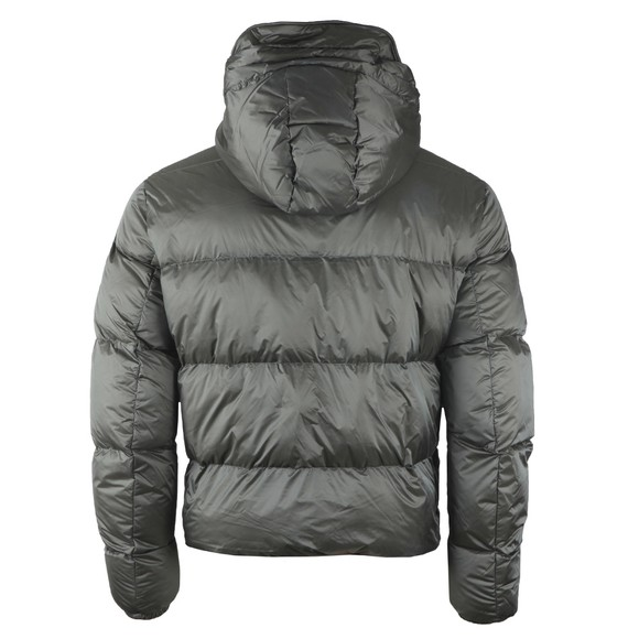 Emporio Armani Mens Grey Down Hooded Jacket main image