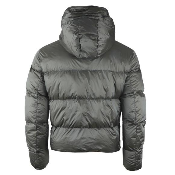 Emporio Armani Mens Grey Down Hooded Jacket main image
