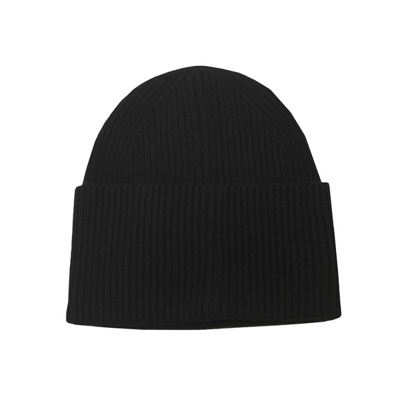 HUGO Mens Black Xaff Knitted Hat