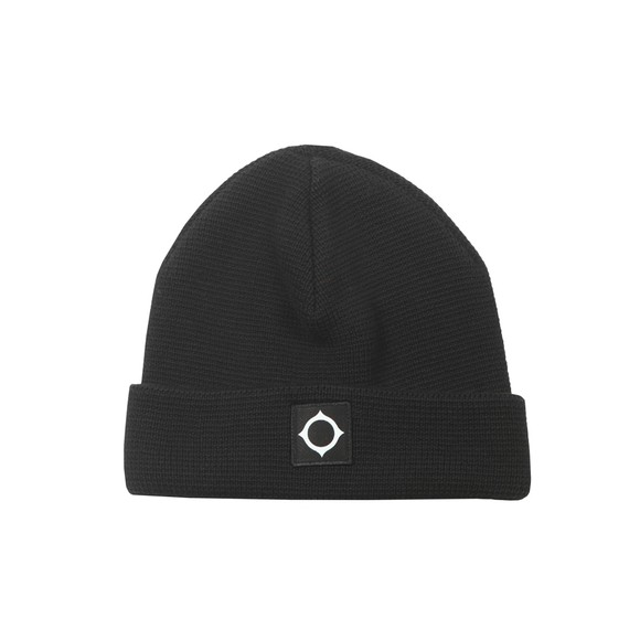 Ma.Strum Mens Black Milano Knit Hat
