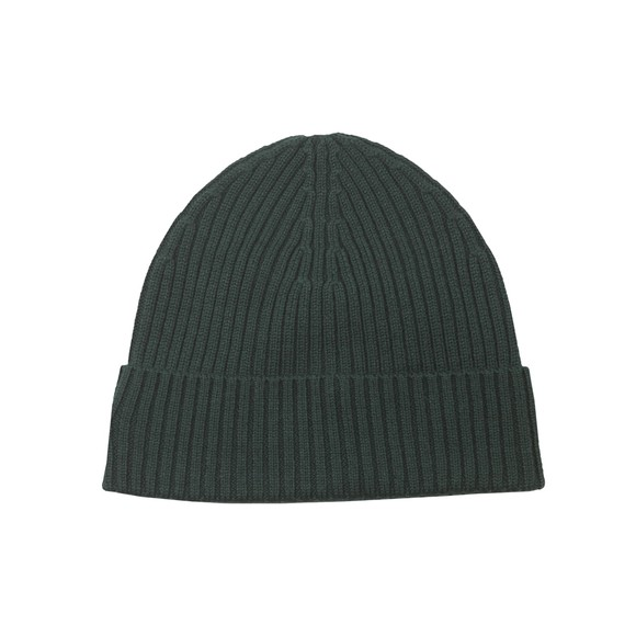 Lacoste Mens Green Ribbed Beanie