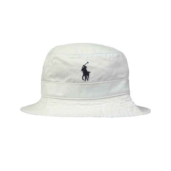 Polo Ralph Lauren Mens White Loft Bucket Hat