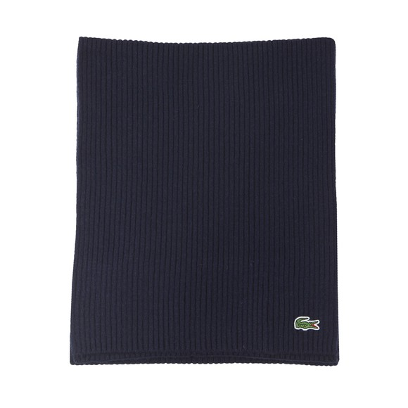 Lacoste Mens Blue Ribbed Scarf main image
