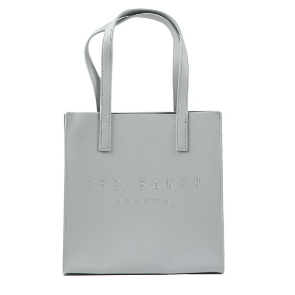 Ted Baker Womens Grey Soocon Crosshatch Large Icon Bag