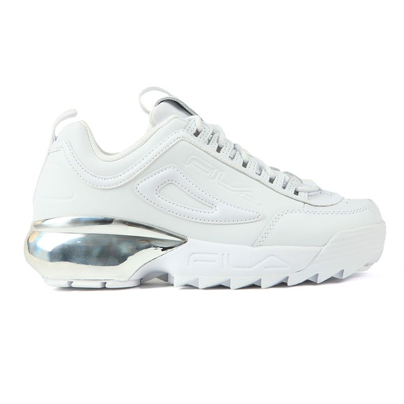 Fila Womens White Disruptor 2A Chrome Trainer