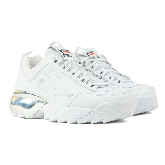 Fila Womens White Disruptor 2A Chrome Trainer main image