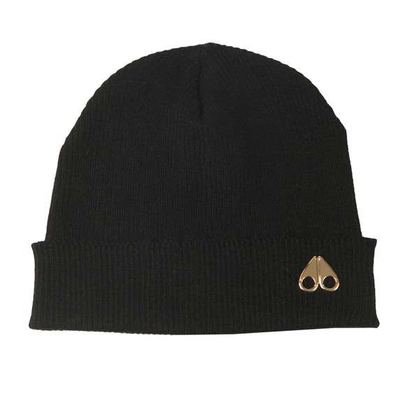 Moose Knuckles Mens Black Kingbridge Hat