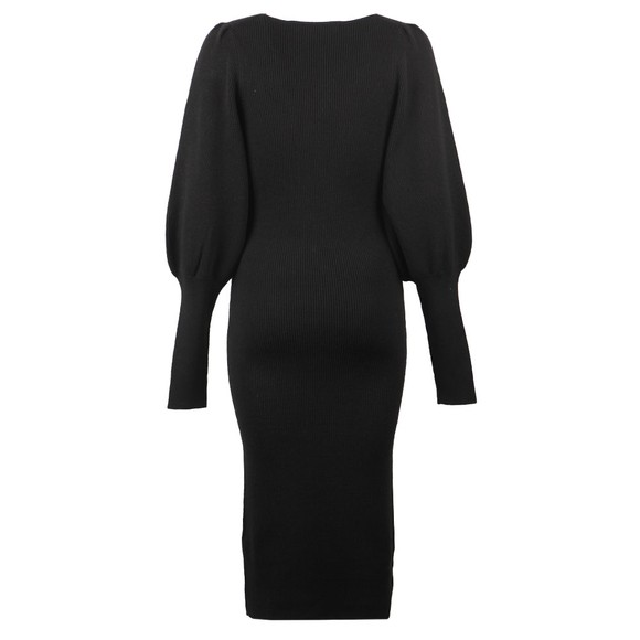 French Connection Womens Black Joss Knits Balloon Sleeve Jumper Dress main image
