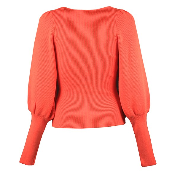 French Connection Womens Orange Joss Knits Puff Sleeve Jumper main image
