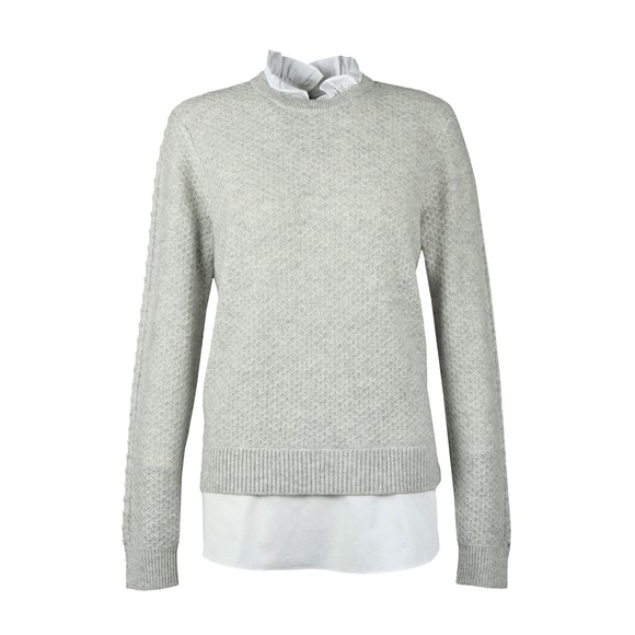 Ted Baker Womens Grey Teaggan Frill Detail Mockable Sweater