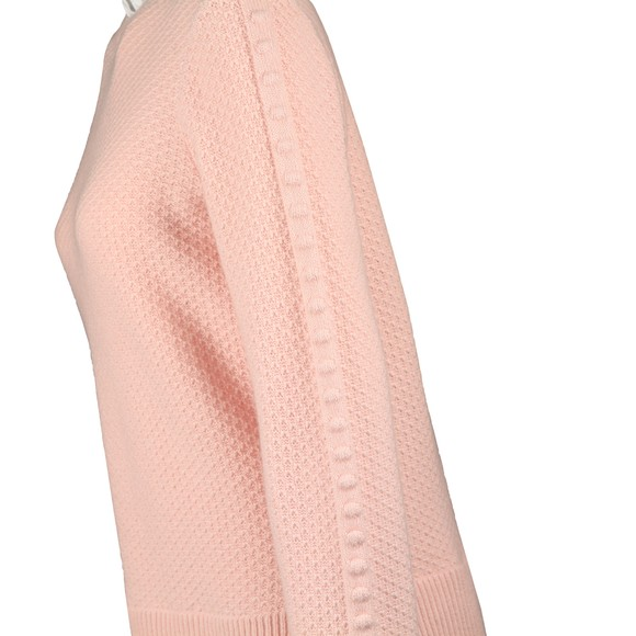 Ted Baker Womens Pink Teaggan Frill Detail Mockable Sweater