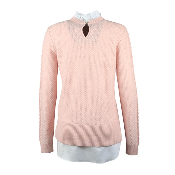 Ted Baker Womens Pink Teaggan Frill Detail Mockable Sweater main image