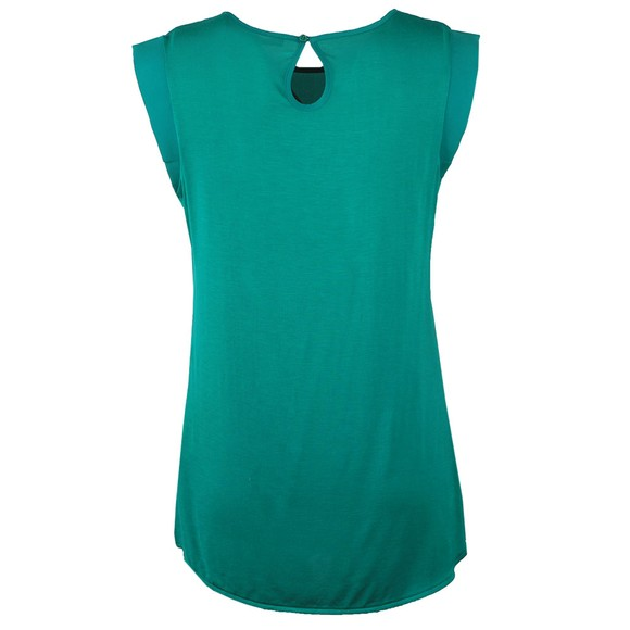 French Connection Womens Green Round Neck Sleeveless Top