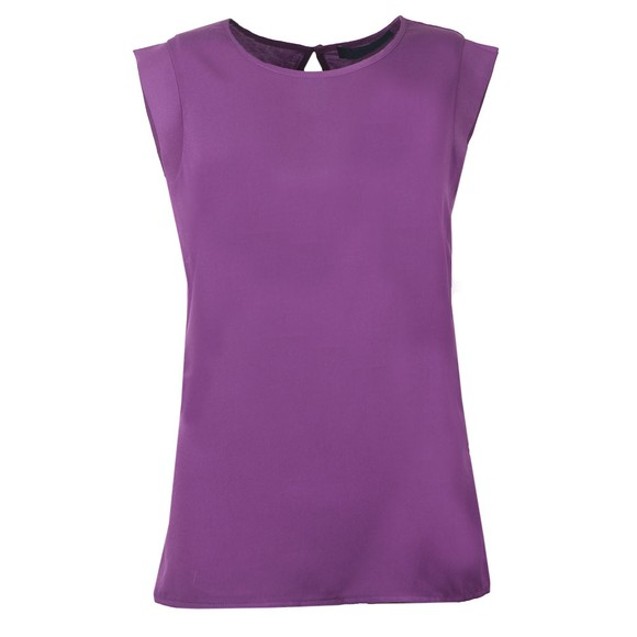 French Connection Womens Purple Round Neck Sleeveless Top