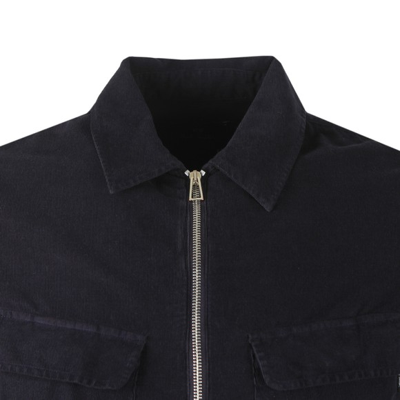 PS Paul Smith Mens Blue LS Zip Overshirt