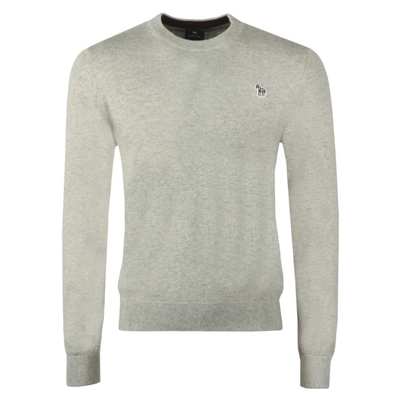 PS Paul Smith Mens Grey Crew Neck Zebra Jumper main image
