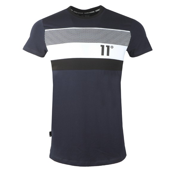 Eleven Degrees Mens Blue Mercury Mesh Muscle T Shirt