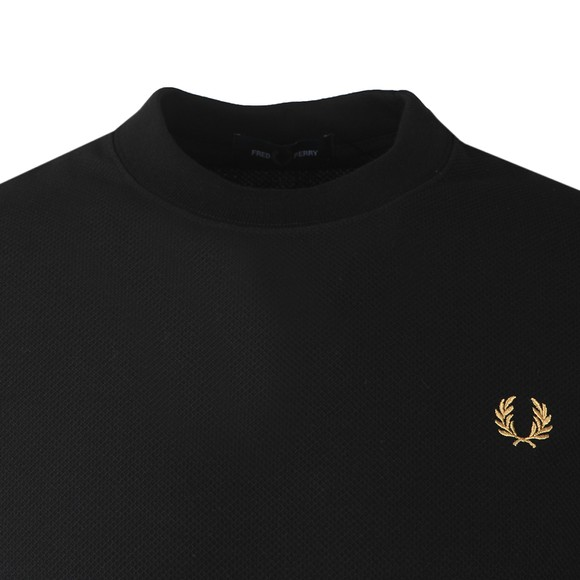 Fred Perry Mens Black Pique T-Shirt