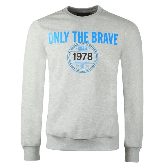 Diesel Mens Grey Girk Crew Sweatshirt