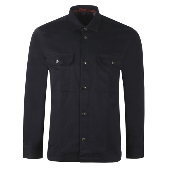 Ted Baker Mens Blue Scon LS Twill Overshirt