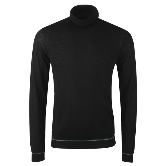 Ted Baker Mens Black Exarno Fine Roll Neck Jumper