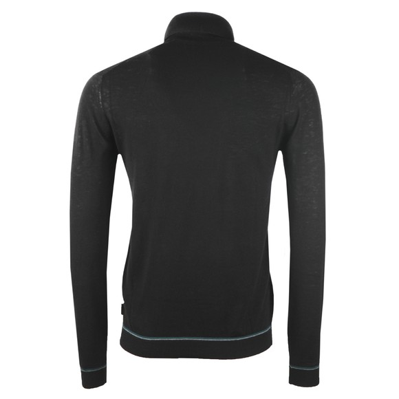 Ted Baker Mens Black Exarno Fine Roll Neck Jumper main image