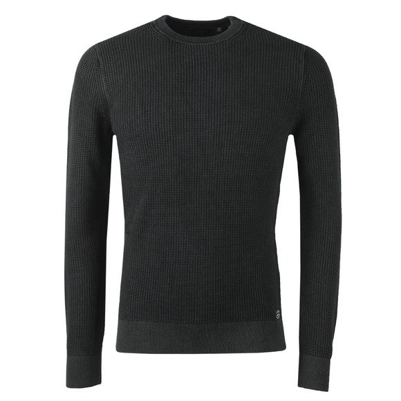 Superdry Mens Black Academy Crew Jumper