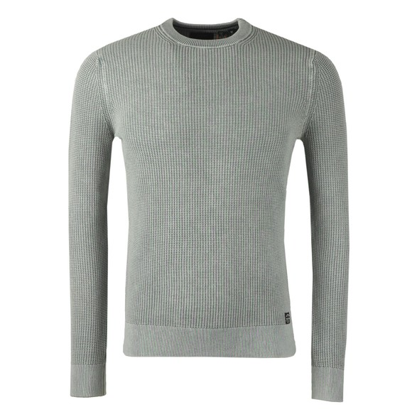 Superdry Mens Grey Academy Crew Jumper