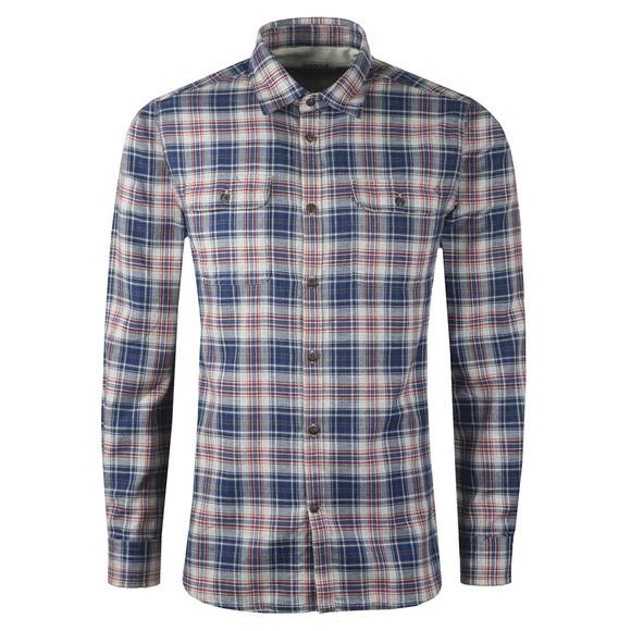 Barbour Int. Steve McQueen Mens Blue Henri Check Shirt