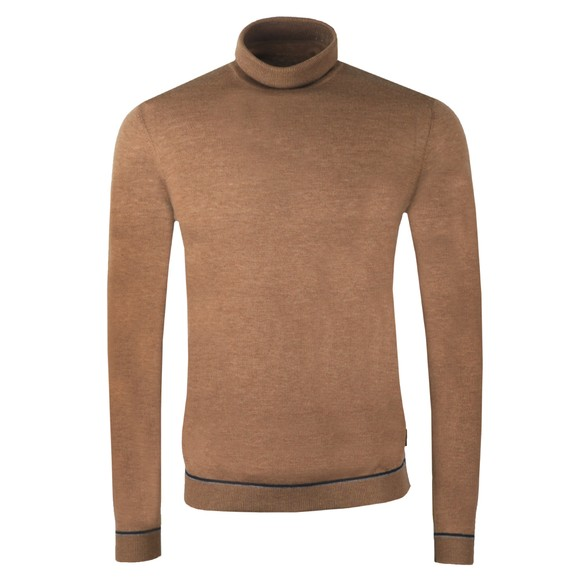 Ted Baker Mens Brown Exarno Fine Roll Neck Jumper