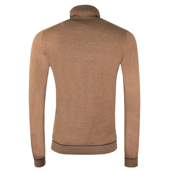 Ted Baker Mens Brown Exarno Fine Roll Neck Jumper main image